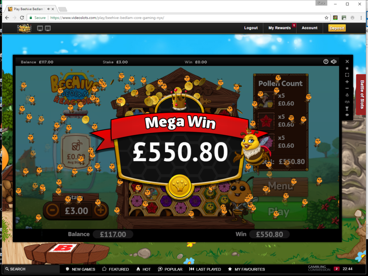 Beehive Bedlam Game of Luck and Skill – Mega Win