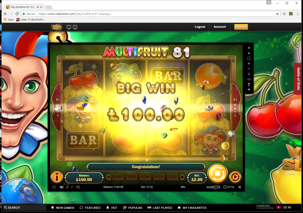 Multi Fruit 81 Play n Go 4 reel slot review